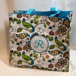 "Handbags - New Monogrammed ""R"" Printed Canvas Tote"